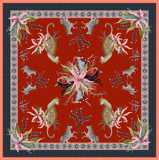 Leopard Lilly Royal table cloth