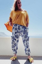 Hannah French floral pants