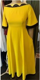 Marina dress yellow