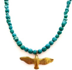 Turquoise  necklace with eagle