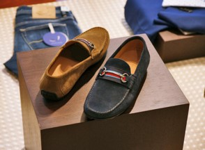 Delavi Loafers Velour Navy