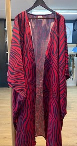 kaftin dress Maroon zebra